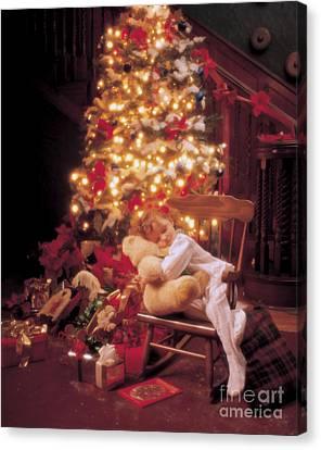 Waiting For Santa Canvas Print by Jon Neidert