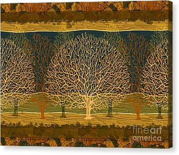 Bare Trees Canvas Print - Waiting For Spring by Peter Awax