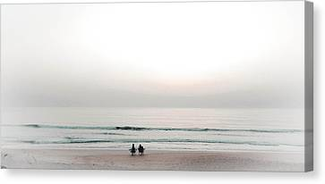 Waiting For Sunrise Canvas Print by Christy Usilton