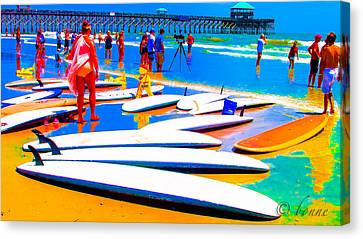 Waiting For Surf Canvas Print by Bonnes Eyes Fine Art Photography