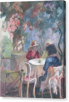 Waiting For Tea Canvas Print by Susan Richardson