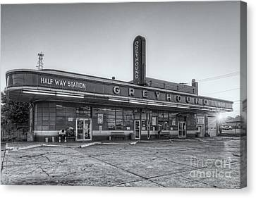 Old Bus Stations Canvas Print - Waiting For The Bus II by Clarence Holmes