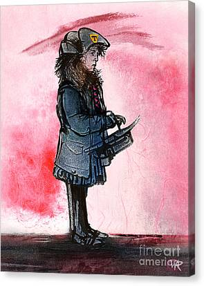 Waiting For The Bus Canvas Print by William Rowsell