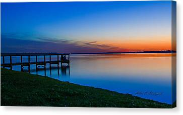 Waiting For The Celestial Event Canvas Print by Allen Biedrzycki