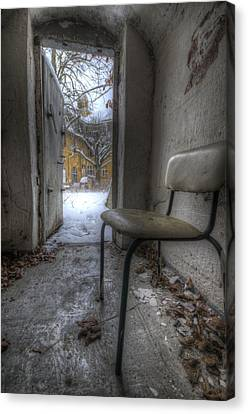 Waiting For The Cold War Canvas Print by Nathan Wright