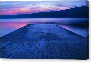 Keuka Lake Canvas Print - Waiting For The Dawn by Steven Ainsworth