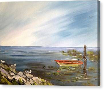 Waiting For The Fisherman Canvas Print by Dorothy Maier