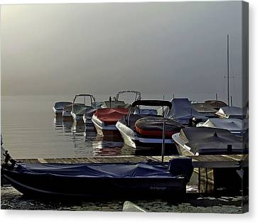 Waiting For The Fog To Lift Canvas Print