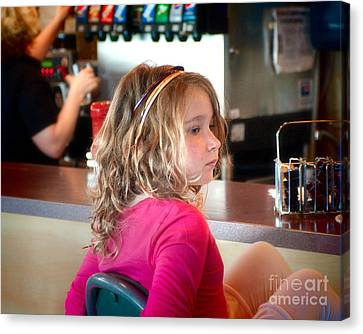 Waiting For The Grown-ups Canvas Print by Sandi Mikuse