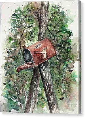 Waiting For The Mail Canvas Print by Stephanie Sodel