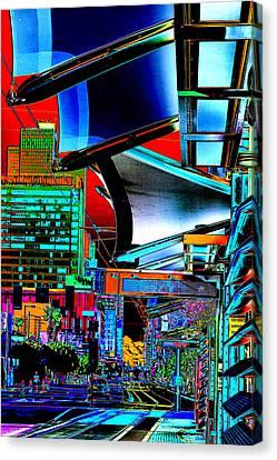 Waiting For The Metro Train Pop Art Canvas Print
