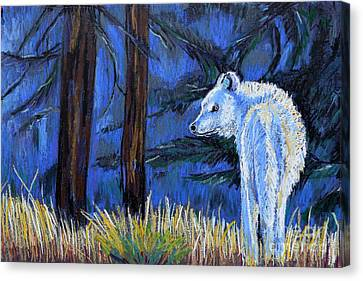 Waiting For The Pack Canvas Print by Harriet Peck Taylor
