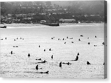 Waiting For The Waves Canvas Print by John Rizzuto