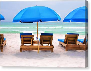 Panama City Beach Digital Painting Canvas Print