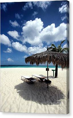 Canvas Print featuring the photograph Waiting For You In Aruba by Polly Peacock