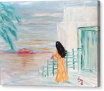 Waiting Canvas Print by Inge Lewis