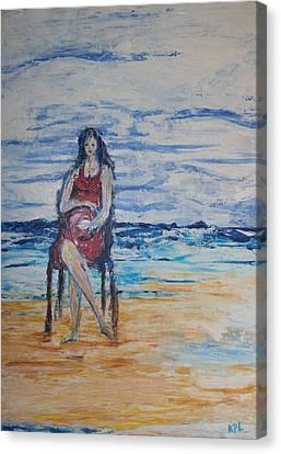 Waiting On The Beach Canvas Print