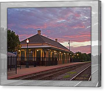 Waiting On The Train Canvas Print by Walter Herrit