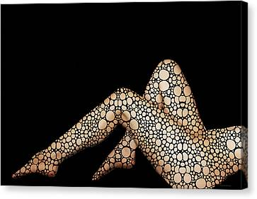 Waiting - Stone Rock'd Nude Art By Sharon Cummings Canvas Print by Sharon Cummings