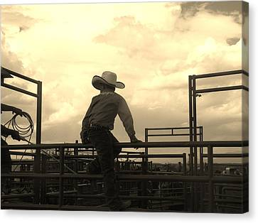 Waiting To Ride Canvas Print by Feva  Fotos