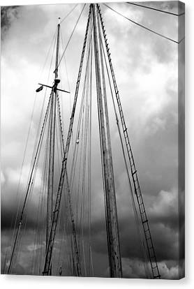 Canvas Print featuring the photograph Waiting To Sail by Ellen Tully