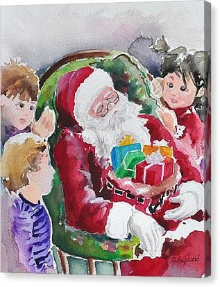 Waiting Up For Santa2 Canvas Print