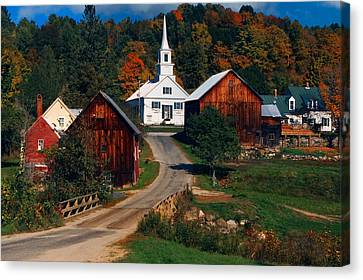 Waits River Village Canvas Print by Andy Richards