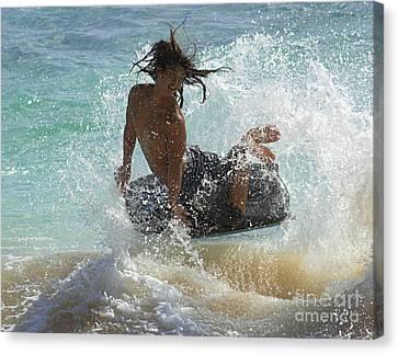 Wake Boarder Hawaii Canvas Print by Bob Christopher