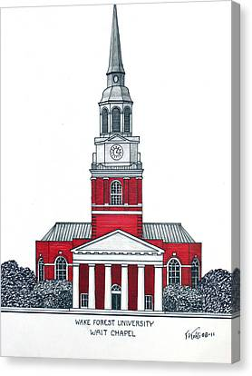 Wake Forest Canvas Print by Frederic Kohli