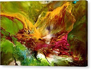 Wake Me Up Original Abstract Art Canvas Print by Serg Wiaderny