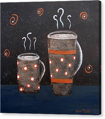 Wake Up And Smell The Coffee Canvas Print by Suzanne Theis