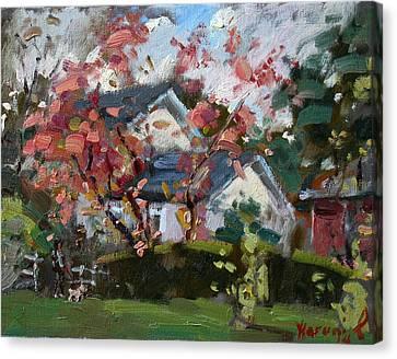 Waking The Dog Canvas Print by Ylli Haruni