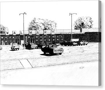 Arkansas Canvas Print - Wal Mart Discount City by Ron Enderland