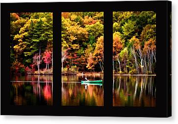 Walden In Three Black  Canvas Print by Garland Johnson