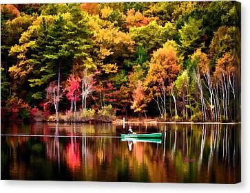 Walden Pond Fall Canvas Print by Garland Johnson