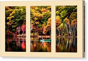Walden Pond In Three  Canvas Print by Garland Johnson
