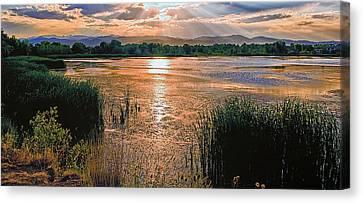 Walden Ponds Sunset II Canvas Print