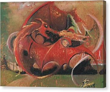 Wales Vs England  Canvas Print by Jessica Davies