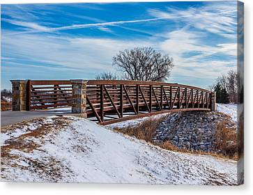 Walk Across Bridge Canvas Print by Doug Long