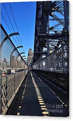 Walk Across Sydney Harbour Bridge Canvas Print by Kaye Menner