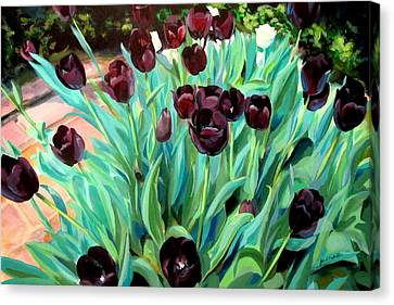 Walk Among The Tulips Canvas Print