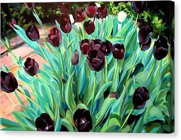 Walk Among The Tulips Canvas Print