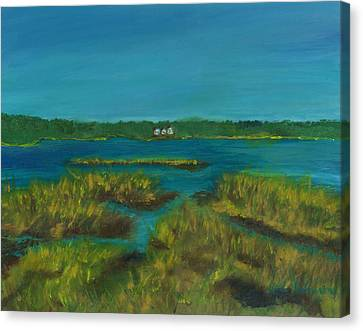 Walk By Lewis Pond Cape Cod Canvas Print by Viola Holmgren