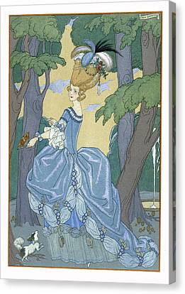 Walk In The Forest Canvas Print by Georges Barbier