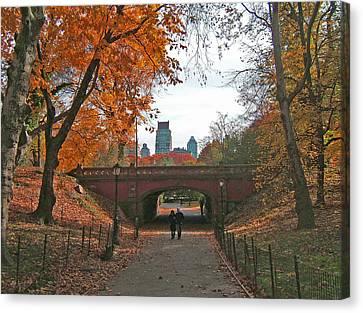 Walk In The Park Canvas Print by Barbara McDevitt