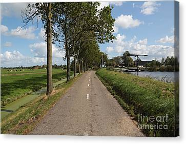 Old Country Roads Canvas Print - Walk In The Polders by Carol Groenen