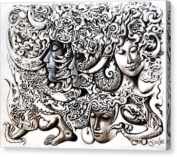 Walk Canvas Print by Kritsana Tasingh