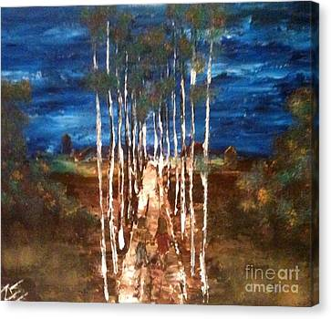 Canvas Print featuring the painting Walk Me Home by Denise Tomasura