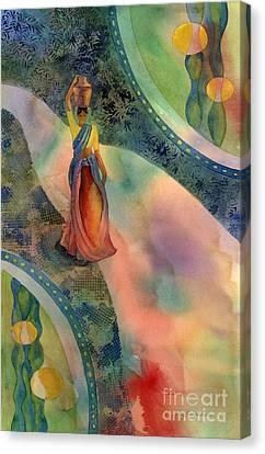 Walk Of Dawning Canvas Print by Amy Kirkpatrick