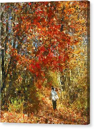 Impressionism Canvas Print - Walk On The Wild Side by Georgiana Romanovna